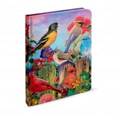 """Záznamová kniha A5 """"Aimee Stewart – Birds and Blooms"""", 2020, 144 listov, linajková"""