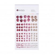 """Dekoračné samolepiace kamienky """"ružové"""", 120 ks"""