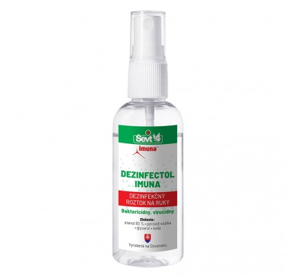 Dezinfekčný roztok na ruky DEZINFECTOL IMUNA, 60 ml