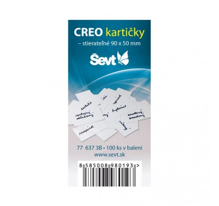 CREO kartičky 90 x 50 mm, 100 ks