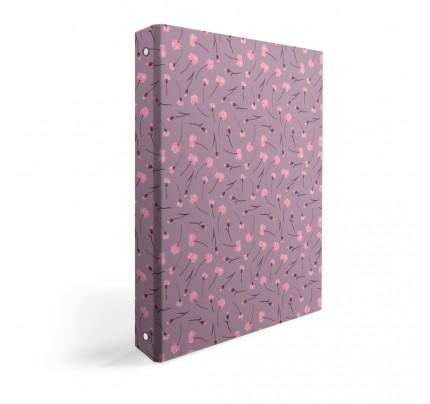 """Karisblok A4 """"ružové kvety"""", 2020, laminovaný"""