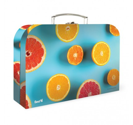"""Detský kufrík """"ovocie"""", 2020, veľký, s UV lakovaním"""