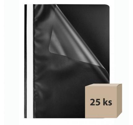 Rýchloviazač PP, A4, čierny, 25 ks