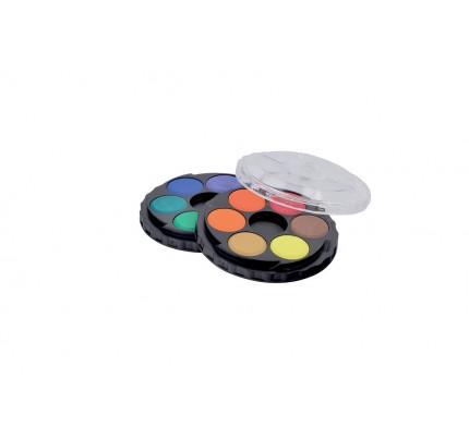 Vodové farby Koh-i-noor, priemer 22,5 mm, súprava 12 ks