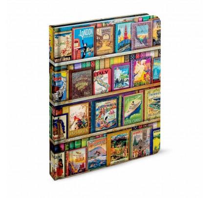 """Záznamová kniha A4 """"Aimee Stewart – World Travel Guides"""", 2020, 96 listov, linajková"""