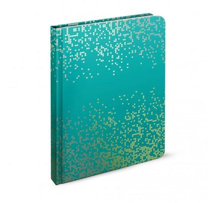 """Záznamová kniha A6 """"pixel – tyrkysový"""", 2020, 96 listov, linajková"""