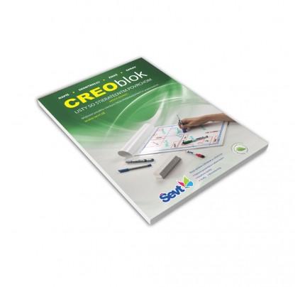 CREO Blok A4, 20 listov, laminovaný, lepený