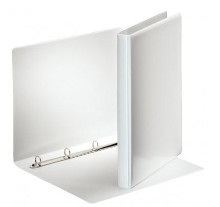 Zakladač 4-krúžkový Esselte, A4, PP, prezentačný, 3 cm, biely