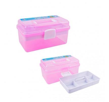 Priehľadný plastový kufrík, mix farieb