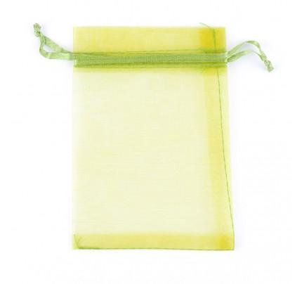 Organzové vrecko, 9 x 12 cm , zelené