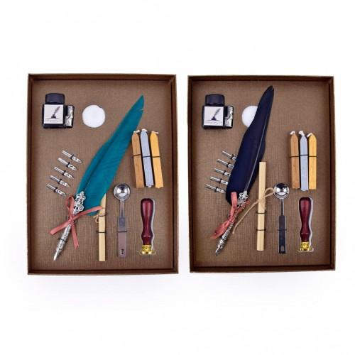 Kaligrafická súprava s voskom a pečatidlom, mix farieb
